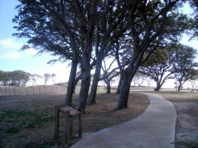 Interior view of Fort Fisher (facing northeast) image. Click for full size.