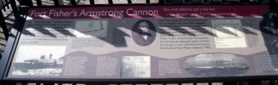 Fort Fisher's Armstrong Cannon Marker image. Click for full size.
