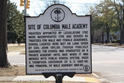 Site of Columbia Male Academy Marker image. Click for full size.
