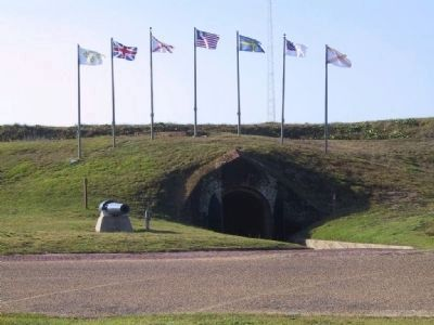 The Seven Flags at Fort Morgan image. Click for full size.