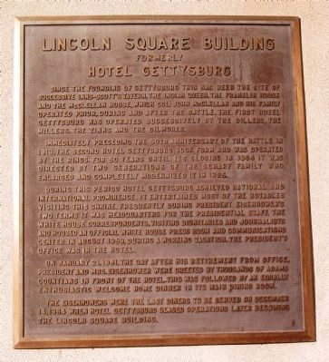 Lincoln Square Building Marker image. Click for full size.