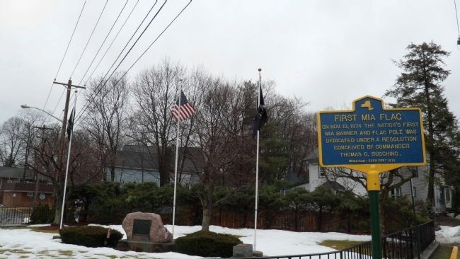 First MIA Flag Marker at Memorial Park in Harriman, NY image. Click for full size.