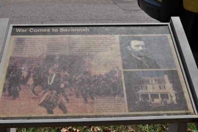 War Comes to Savannah Marker image. Click for full size.