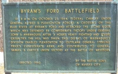 Byram's Ford Battlefield Marker image. Click for full size.