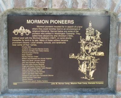 Mormon Pioneers Marker image. Click for full size.