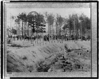 """Camp of 27th U.S. Colored Infantry"" image. Click for full size."