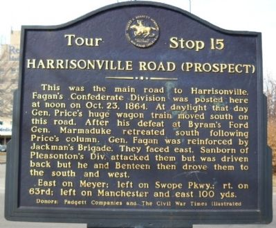 Harrisonville Road (Prospect) Marker image. Click for full size.