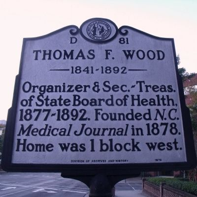 Thomas F. Wood Marker image. Click for full size.