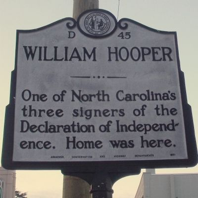 William Hooper Marker image. Click for full size.