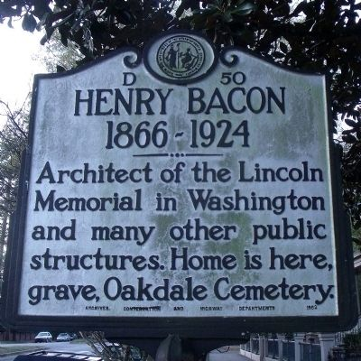 Henry Bacon Marker image. Click for full size.
