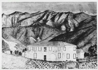 Sanchez Adobe During the Kirkpatrick Period, 1885 image. Click for full size.