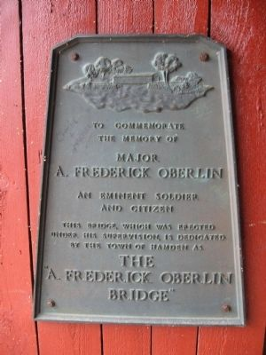 A. Frederick Oberlin Bridge Marker image. Click for full size.