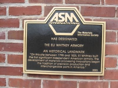 Eli Whitney Armory Marker image. Click for full size.