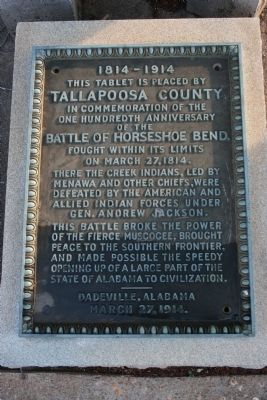 Battle Of Horseshoe Bend Marker image. Click for full size.