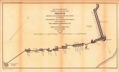 Plan and sections of Fort Fisher image. Click for full size.