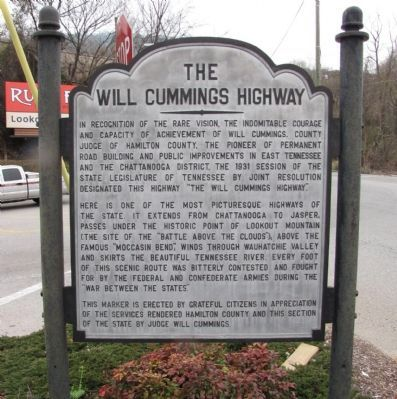 The Will Cummings Highway Marker image. Click for full size.