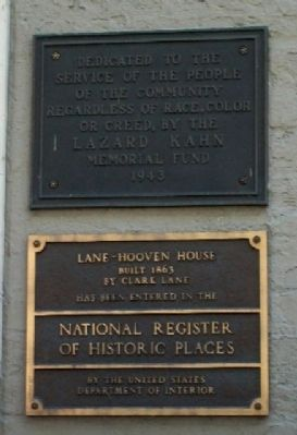 Lane-Hooven House Markers image. Click for full size.