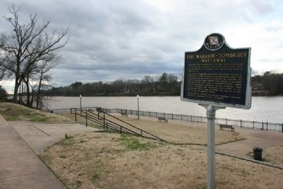The Warrior-Tombigbee Waterway Marker image. Click for full size.