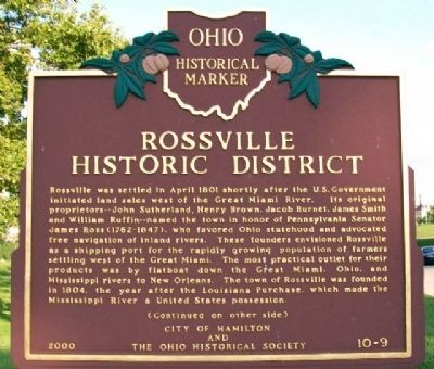 Rossville Historic District Marker (Side A) image. Click for full size.