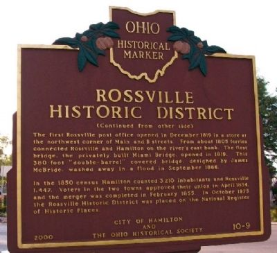 Rossville Historic District Marker (Side B) image. Click for full size.