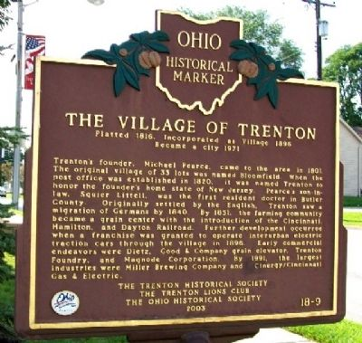 The Village of Trenton Marker (Side A) image. Click for full size.