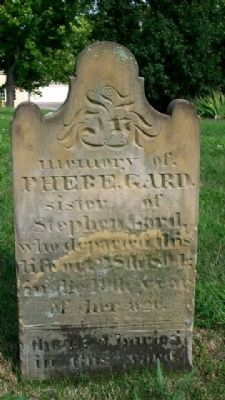 Phebe Gard Grave Marker image. Click for full size.