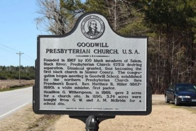 Goodwill Presbyterian Church, U.S.A. Marker image. Click for full size.