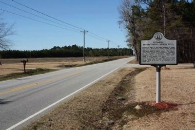 Marker seen looking north along Brick Church Road (State Road 527) image. Click for full size.