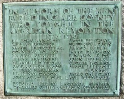 Clark County Revolutionary War Memorial Marker image. Click for full size.