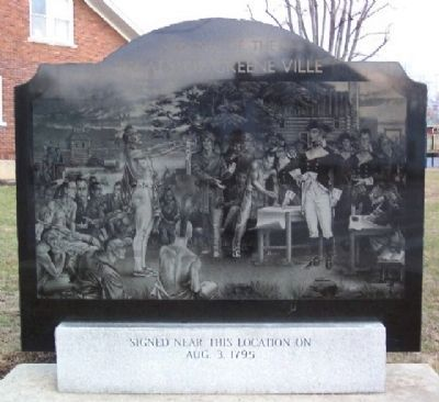 Signing of the Treaty of Greene Ville Monument image. Click for full size.