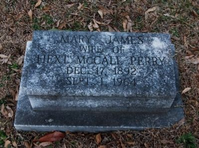 Mary James Perry (1892-1964) Tombstone image. Click for full size.