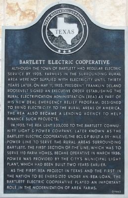 Bartlett Electric Cooperative Marker image. Click for full size.