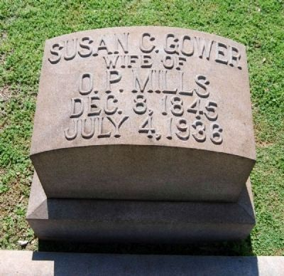 Susan C. Gower (1848-1936) Tombstone image. Click for full size.