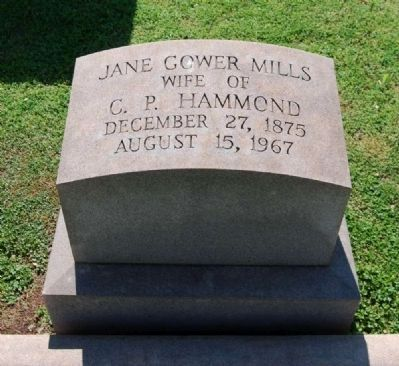 Jane Gower Mills (1875-1967) Tombstone image. Click for full size.