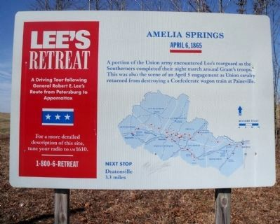 Amelia Springs Marker image. Click for full size.