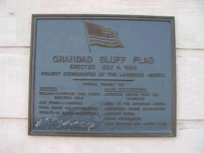 Grandad Bluff Flag Plaque image. Click for full size.