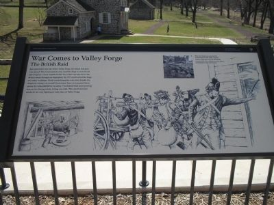 War Comes to Valley Forge Marker image. Click for full size.