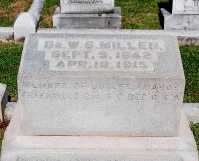 Dr. W.S. Miller (1842-1915) Tombstone image. Click for full size.
