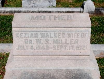 Keziah Walker (1849-1921) Tombstone image. Click for full size.
