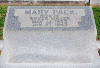Mary Peck (1883-1963) Tombstone image. Click for full size.