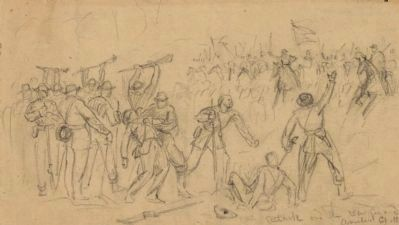 Attack on the rear guard. Amelia Ct. Ho. image. Click for full size.