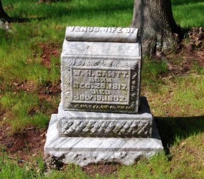 Venus Gantt (1817-1892) Tombstone image. Click for full size.