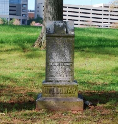 C.J. Holloway (1845-1897) Tombstone image. Click for full size.