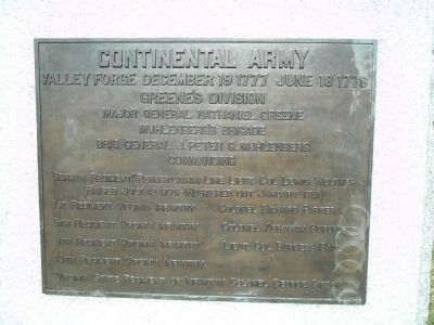 Greene's Division Marker image. Click for full size.