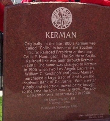Kerman Marker image. Click for full size.