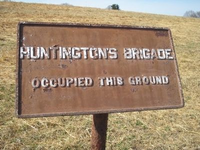 Huntington's Brigade Marker image. Click for full size.