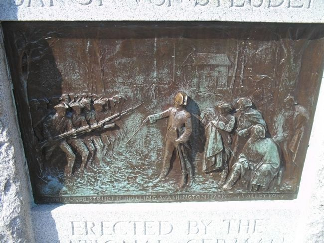 Closeup of von Steuben Plaque image. Click for full size.