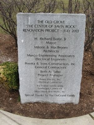 The Old Grove Marker image. Click for full size.