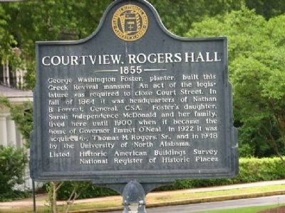 Courtview, Rogers Hall 1855 Marker image. Click for full size.