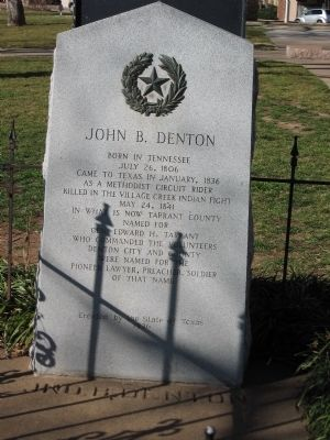 John B. Denton Marker image. Click for full size.